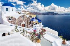 蓝色希腊的五十片树荫 免版税库存图片