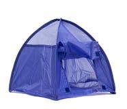 蓝色帐篷 免版税库存照片