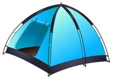 蓝色帐篷 库存例证