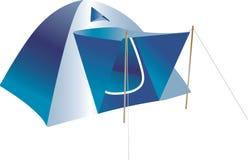 蓝色帐篷 库存图片