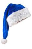 蓝色帽子魔术圣诞老人 库存图片