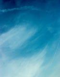 蓝色干净的云彩日天空夏天白色 免版税库存图片