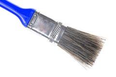 蓝色干净的油漆刷 库存照片