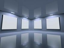 蓝色干净的画廊灰色网站 图库摄影