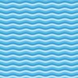 蓝色平的波动图式 皇族释放例证