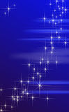蓝色幻想星形背景。 库存图片