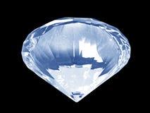 蓝色底部水晶金刚石 库存照片