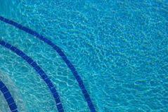 蓝色底部池 库存照片