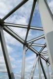 蓝色建筑金属天空 图库摄影