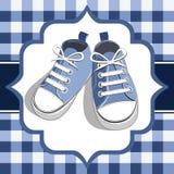 蓝色开玩笑运动鞋 免版税库存图片