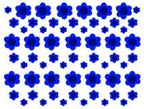 蓝色开花背景纹理样式