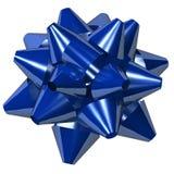 蓝色弓星形 免版税库存照片