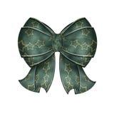 蓝色弓花梢绿色星形 免版税库存照片