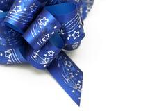 蓝色弓详细资料 图库摄影