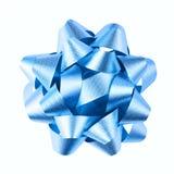 蓝色弓 库存照片