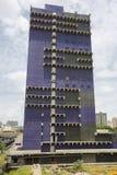蓝色当代建筑学在加拉加斯,委内瑞拉 图库摄影