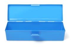 蓝色得心应手的箱子 免版税库存照片