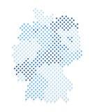 蓝色德国地图和旗子 库存照片