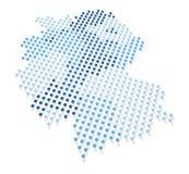 蓝色德国地图和旗子3 免版税库存图片