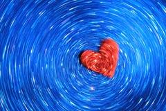 蓝色心脏背景-颜色和屏幕保护程序抽象派  免版税库存照片
