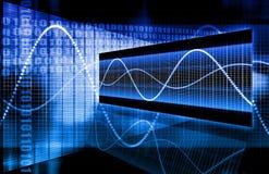 蓝色总公司数据绘制 库存例证