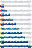 蓝色情况指示符 免版税库存图片