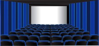 蓝色戏院空间陈列 免版税库存照片