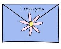 蓝色我想念您 库存图片
