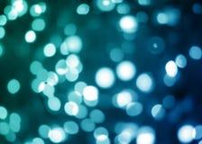 蓝色或水色未聚焦的假日点燃好作为背景 库存图片