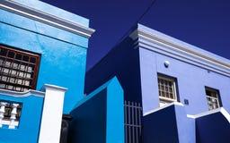 蓝色房子前面在开普敦 图库摄影
