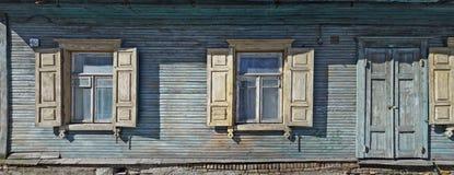 蓝色房子号码四十 免版税库存照片