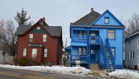 蓝色房子 库存图片