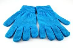 蓝色手套 免版税库存图片
