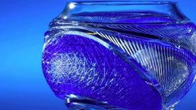 蓝色手工制造瓦器杯子 日本传统茶杯 库存图片