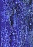 蓝色手工制造水彩纹理 免版税库存图片