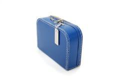 蓝色手提箱 免版税库存图片