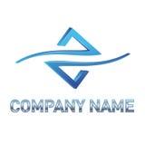 蓝色技术徽标 免版税图库摄影