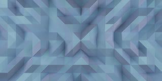 蓝色抽象三角背景例证纹理 免版税图库摄影