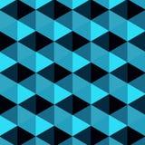 蓝色抽象三角背景 免版税图库摄影