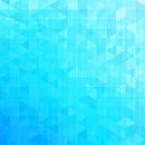 蓝色抽象传染媒介三角背景 免版税图库摄影