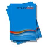 蓝色抽象传染媒介盖子设计模板 库存例证