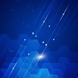 蓝色抽象几何背景 免版税库存照片