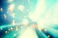蓝色抽象发光的轻的未来派路 免版税库存照片