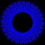 蓝色抽象圈子 免版税库存照片