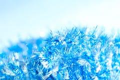 蓝色抽象圣诞节装饰背景 库存照片
