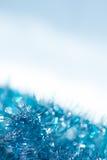 蓝色抽象圣诞节装饰背景 免版税库存图片