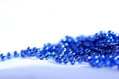 蓝色抽象圣诞节装饰背景 免版税库存照片