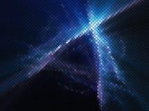 蓝色抽象夜点燃迪斯科背景正方形马赛克 免版税库存照片