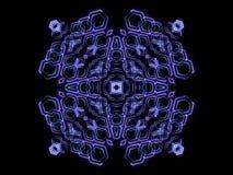 蓝色抽象形状和黑背景 免版税库存照片