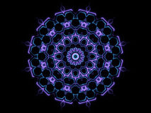 蓝色抽象形状和黑背景 库存图片